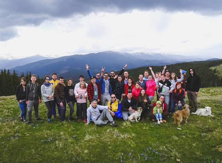 Our Team in Carpathian Mountains. 2017